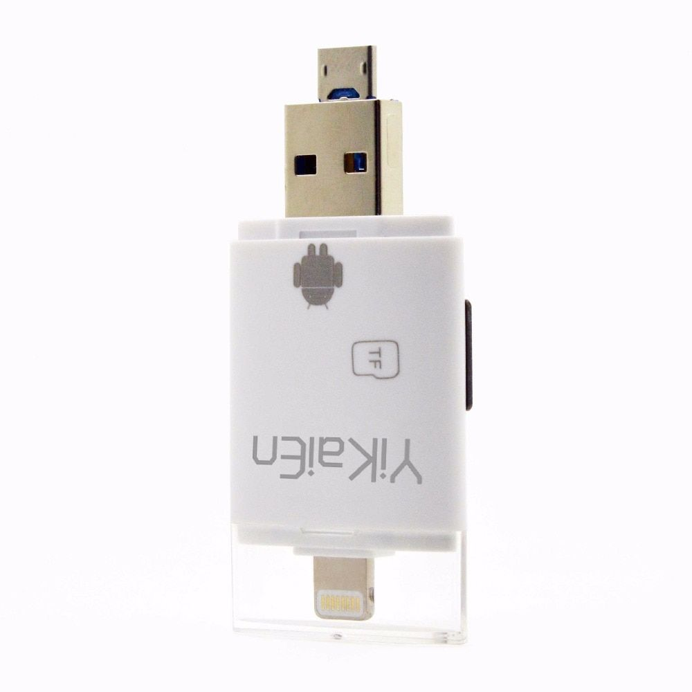 Fastest! 3 in 1 iFlash Drive USB Micro TF Card Reader Writer for iPhone 6s/6s plus/6/6 plus/ipad/itouch /All Android Cellphones
