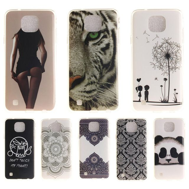 Fashion Cartoon Tiger Painted Soft TPU Cover Case For LG X-Cam X Cam K580 K580DS 5.2'' Silicone Gel Soft Shell Mobile Phone Bags