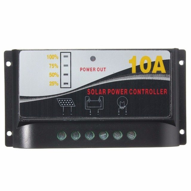 10A 12V PWM Solar Battery Panel Charge Control Solar Power Controller With LCD Display
