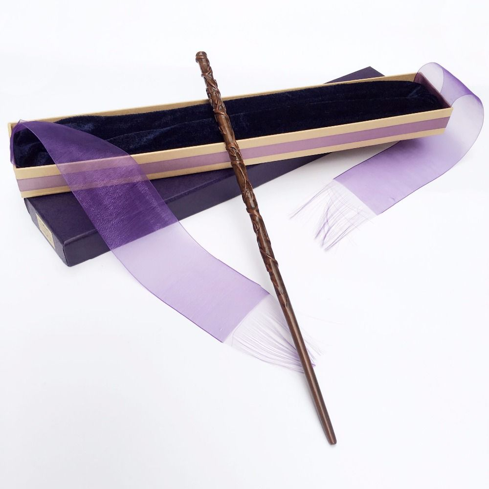 Colsplay New Arrive Metal/Iron Core Hermione Wand/ HP Magic Magical Wand/ Elegant Ribbon Gift Box Packing