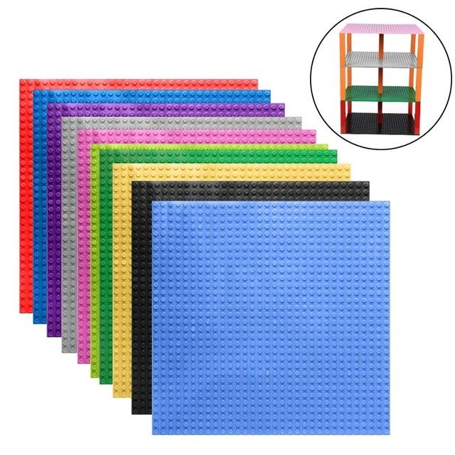 "Hot Colors Small Bricks Baseplates 32*32 Dots Base plate Size 10*10"" DIY Building Blocks Toy Compatible with major brand blocks"