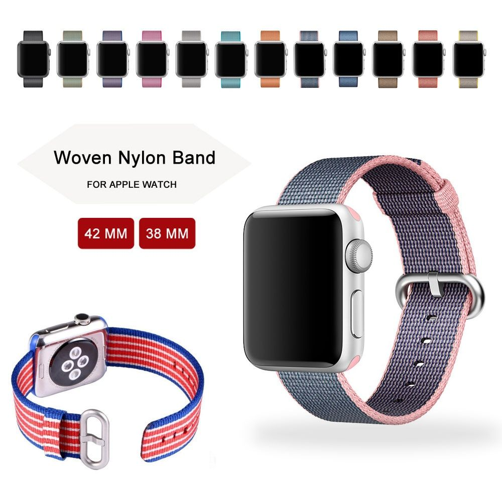 Newest Woven Nylon watch strap for apple watch 3 wrist bracelet belt fabric-like nylon band for iwatch 3/2/1