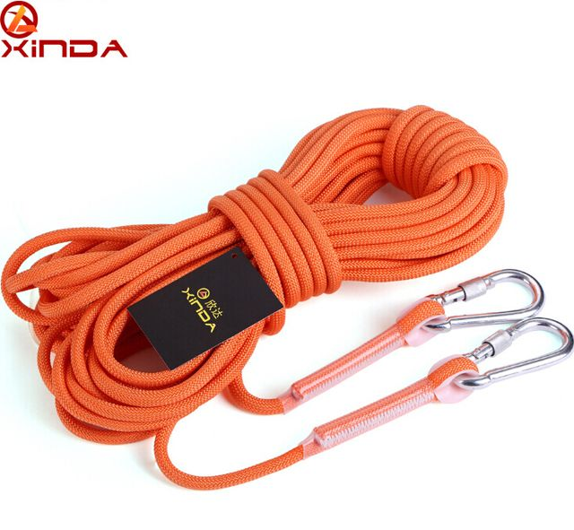 XINDA 10M Professional Rock Climbing Cord Outdoor Hiking Accessories Rope 9.5mm Diameter 12KN High Strength Cord Safety Rope