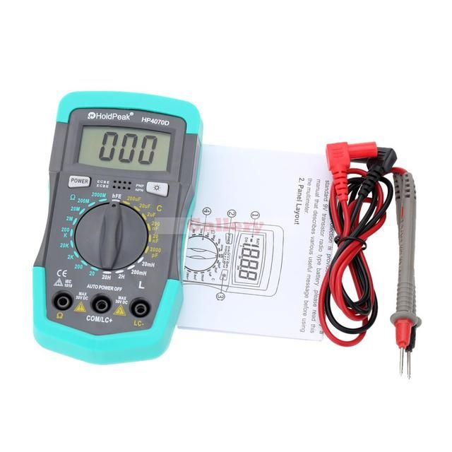 Holdpeak Hp4070d Mini Digital Multimeter Resistancetester Capacitance Meter Inductance Transistor Test Electrical Instruments