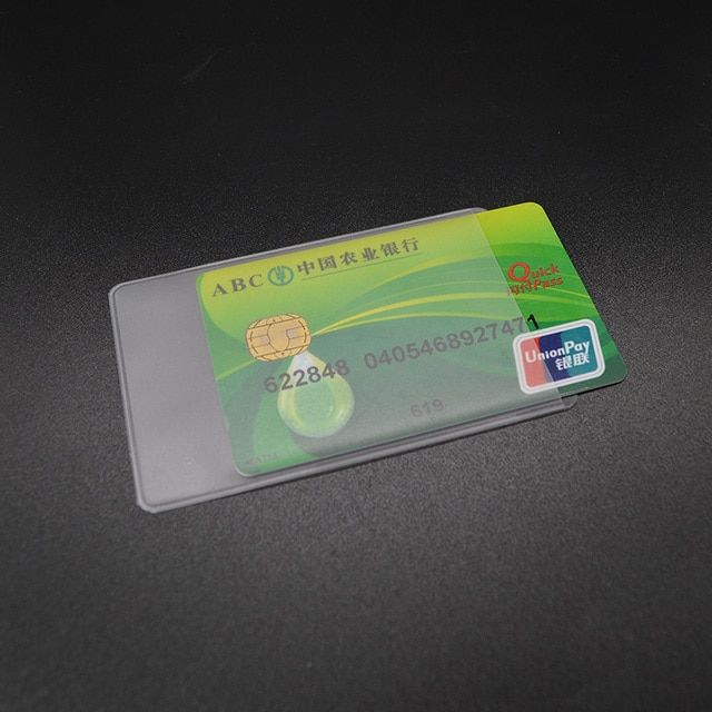 Waterproof Transparent Pvc Card Cover Silicone Plastic Cardholder Case To Protect Credit Cards Porte Carte Bank Id Card Sleeve
