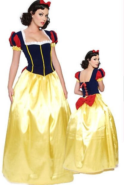 free shipping Adult Snow White Princess New Fancy Dress Costume Sexy Ladies costume  size S-3XL