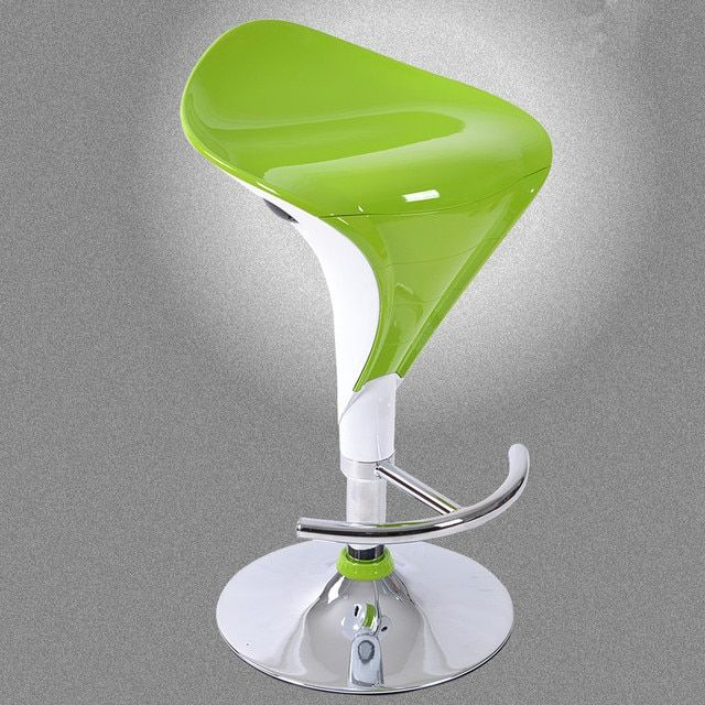 Green Color Modern Iron Swivel Bar Stool Furniture Set