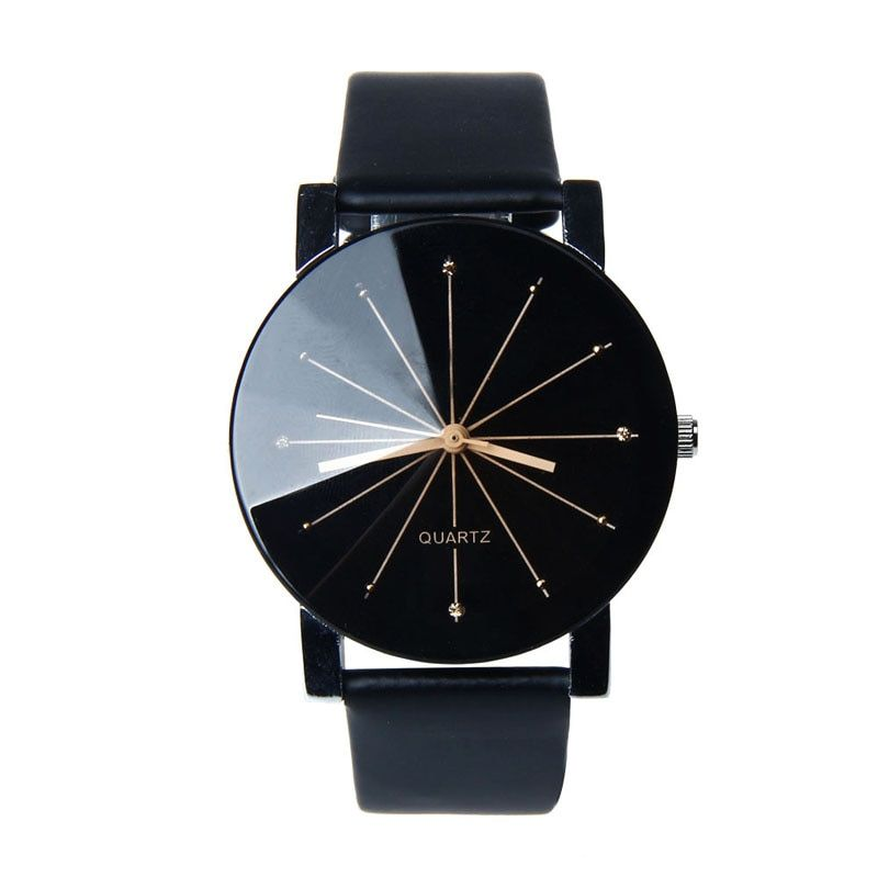 Personality Lovely minimalist leather normal waterproof Quartz Wrist Dial Clock Watch men and women couple watch casual watches