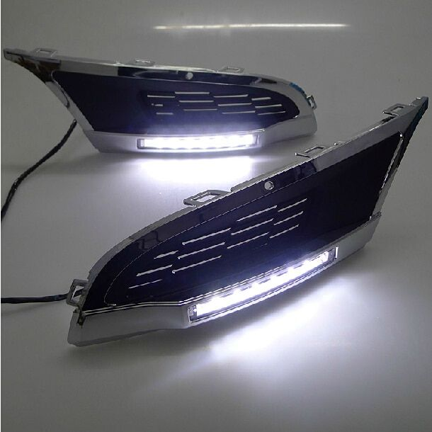 High quality and Waterproof LED Car DRL Daytime running lights fog light for Volkswagen VW Polo Mk5 Vento 2010 2011 2012 2013