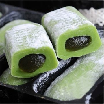 Free shipping mochi green tea bagged snacks 180G snack food  Japanese snacks