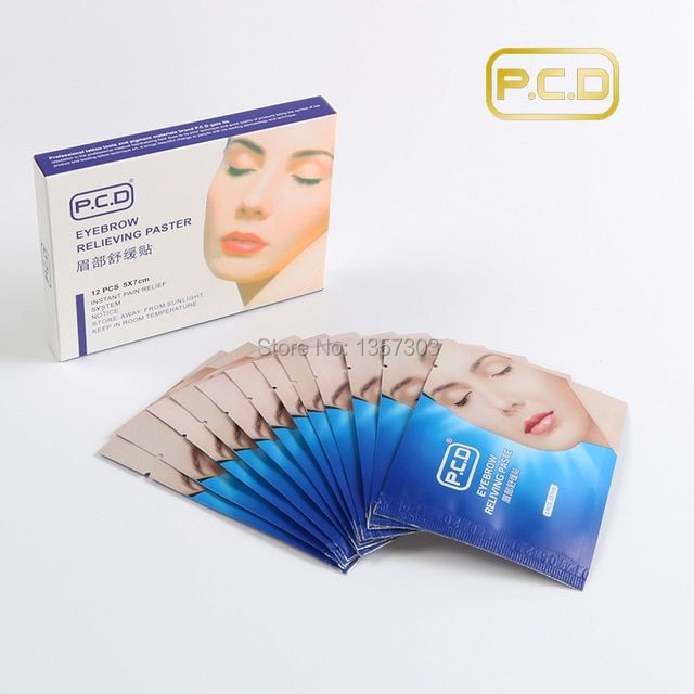 High Quality Eyebrow Anesthetic Paste Eyebrow mask For Eyebrow Tattoo 12pcs/1box permanent makeup accessories