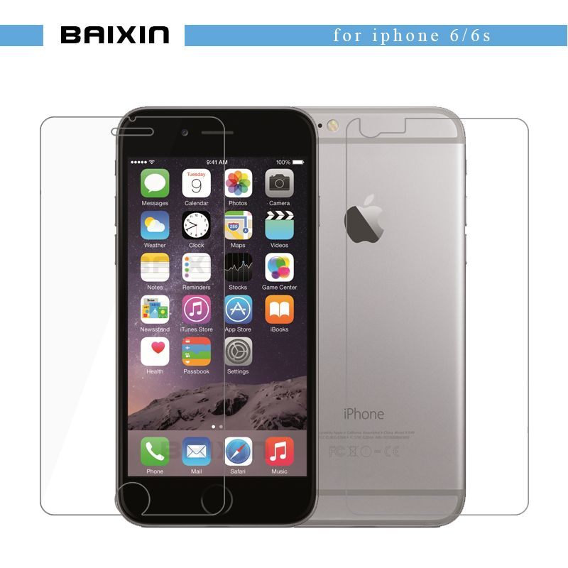 baixin Front+Back Premium Tempered Glass for iPhone 6 6s 9H  Anti-scratch Explosion-proof Screen Protector Film for iPhone6 4.7""