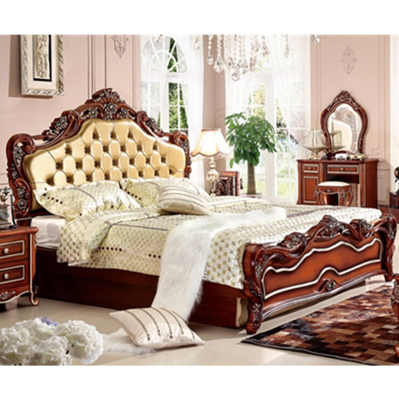 classical wooden bed designs