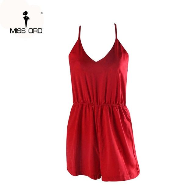 free shIpping MISSORD 2018  sexy v neck sleeveless  PLAYSUIT  FT4359