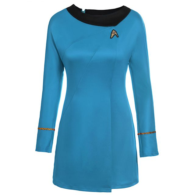 High Quality star trek female uniform Dress  cosplay costume 2018 NEW Coming