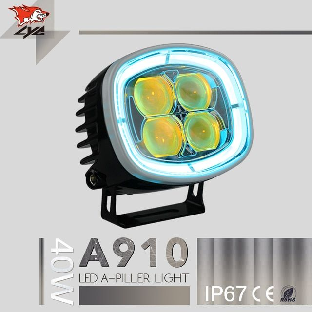 Hot Products Die-cast Aluminum Led Spotlights For Cars Spot /Flood Beam Led Car Light For Truck Jeep Synchronous Steering