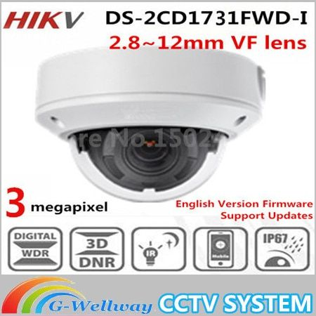 In stock New DS-2CD1731FWD-I replace DS-2CD2735F-IS Vari-focal 3MP dome Network IP Camera
