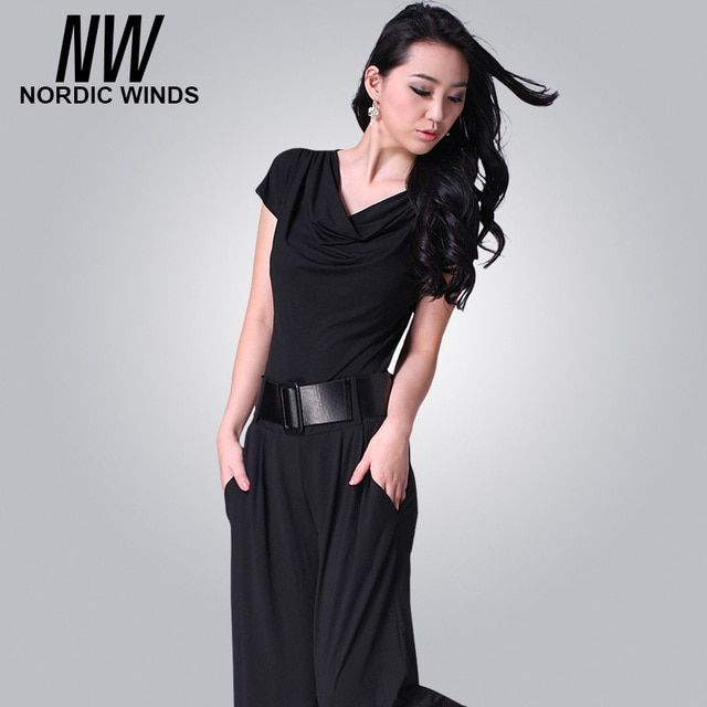 2017 Black Women Jumpsuit Summer Plus Size XXXL Short Sleeve Casual Full Length High Waist Ladies Elegant Jumpsuits with Sashes