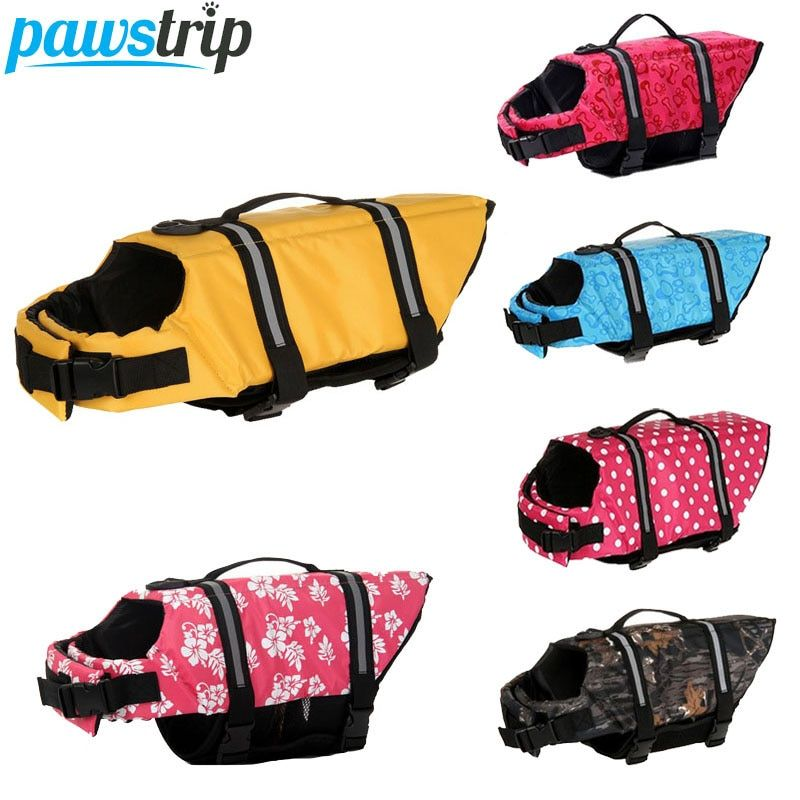 11 Patterns Reflective Dog Life Jacket Summer Dog Clothes Puppy Life Vest Dog Swimwear Preserver For Small Medium Dogs XXS-XXL