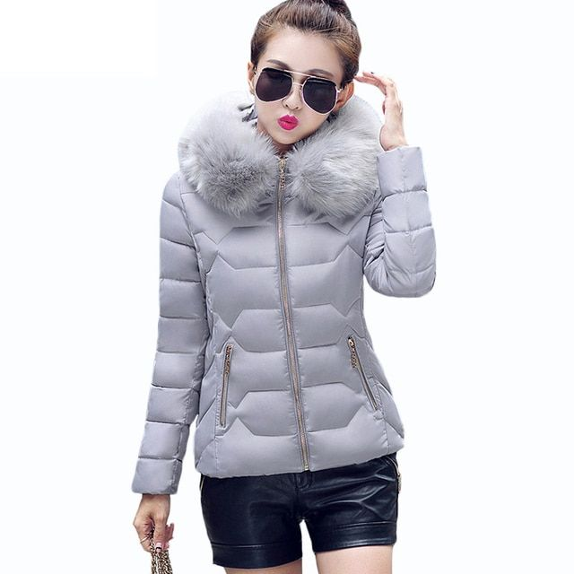 New 2016 Winter Fashion Women Down Jackets Casual Sweet Solid Female Coats Long Sleeve Light&Warm Clothes Plus Size Tops 60A 25