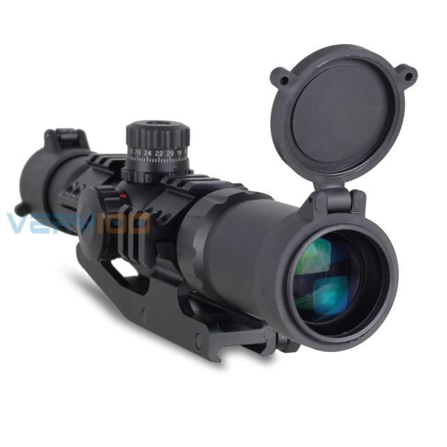 Tactical Recon Monocular Telescope Scope 1.5-4X30 Tri-illuminated Mil-dot Sight Hunt Rifle Scope Waterproof Picatinny Rail 20mm