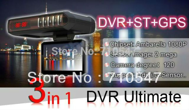 2.7 inch Car DVR with Radar Detector GPS G sensor 1280x720p 30fp New Russian Strelka-ST