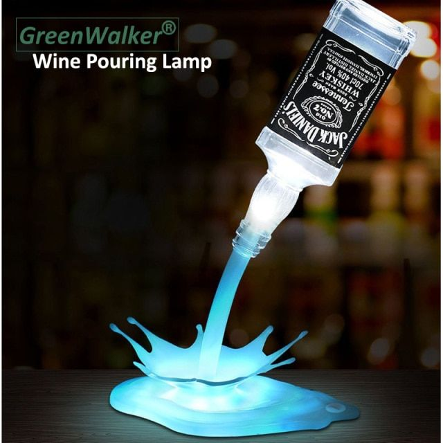 Wine Bottle Lamp,Led Illusion DIY Bottles light Pour Lamp ,Rechargeable USB Touch Effect Desk Lamp for Bar Cafes Restaurant