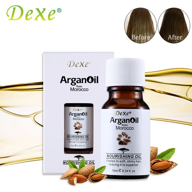 10ml Dexe Hair Care Argan Oil Pure From Morocco Arganovoe Oil Moroccan Nourishing Oil Helps To Soft and Shiny Hair