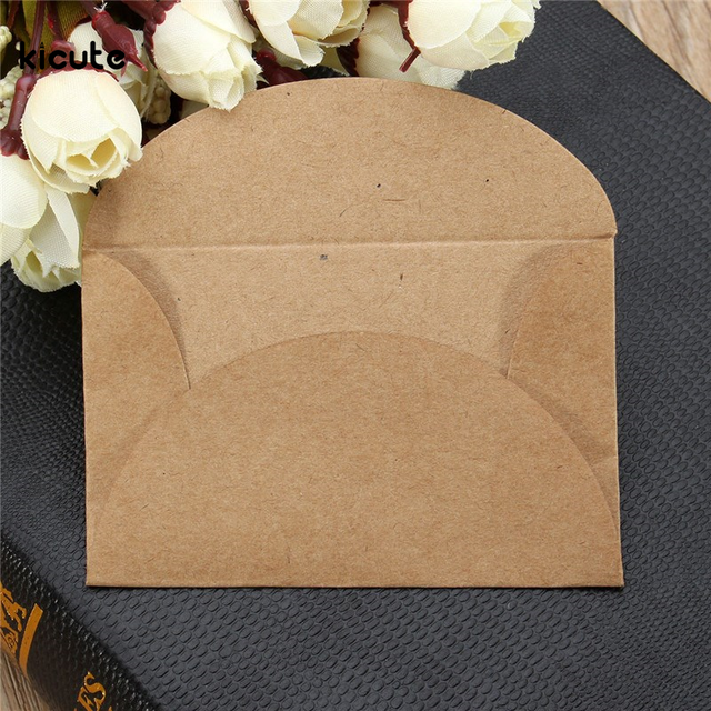 200pcs/lot Retro Handmade Mini Kraft Paper Envelope Stationery Gift for Wedding Gift Party Invitation Card Business Card 5.8x9cm