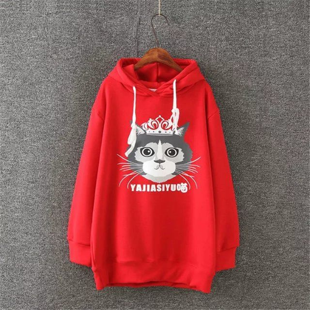 Plus Size 3XL Sweatshirt 2016 Newest Women Ladies Casual Fleece Hoodie Winter Patchwork Pullover Tops red gray Cute