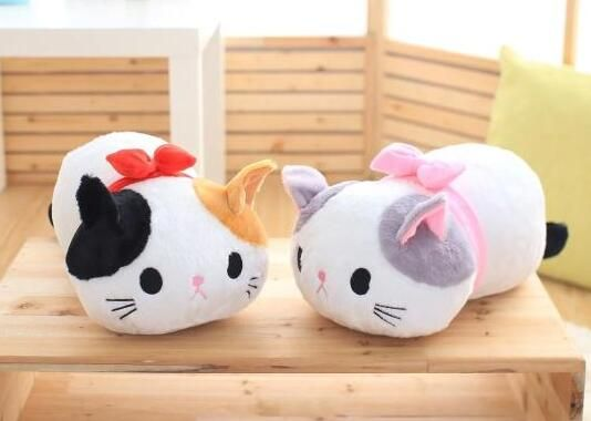 candice guo! super cute plush toy lovely papa couple Tie bowknot cat fat kitten stuffed cushion lover birthday Christmas gift 1p