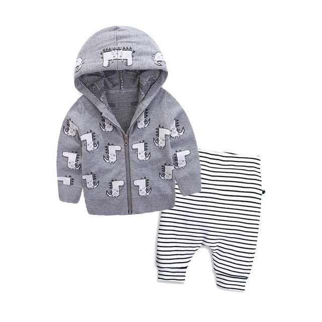 2017 fashion autumn winter baby boy girl clothing sets newborn tracksuits knitted zipper jacket+pants 2pcs suit baby clothes set