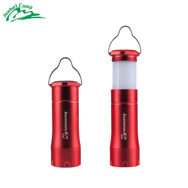 LED multifunction camping lamp 10 hours Aluminium alloy flashlight portable outdoor camping 3 modle zoom  3*AAA battery