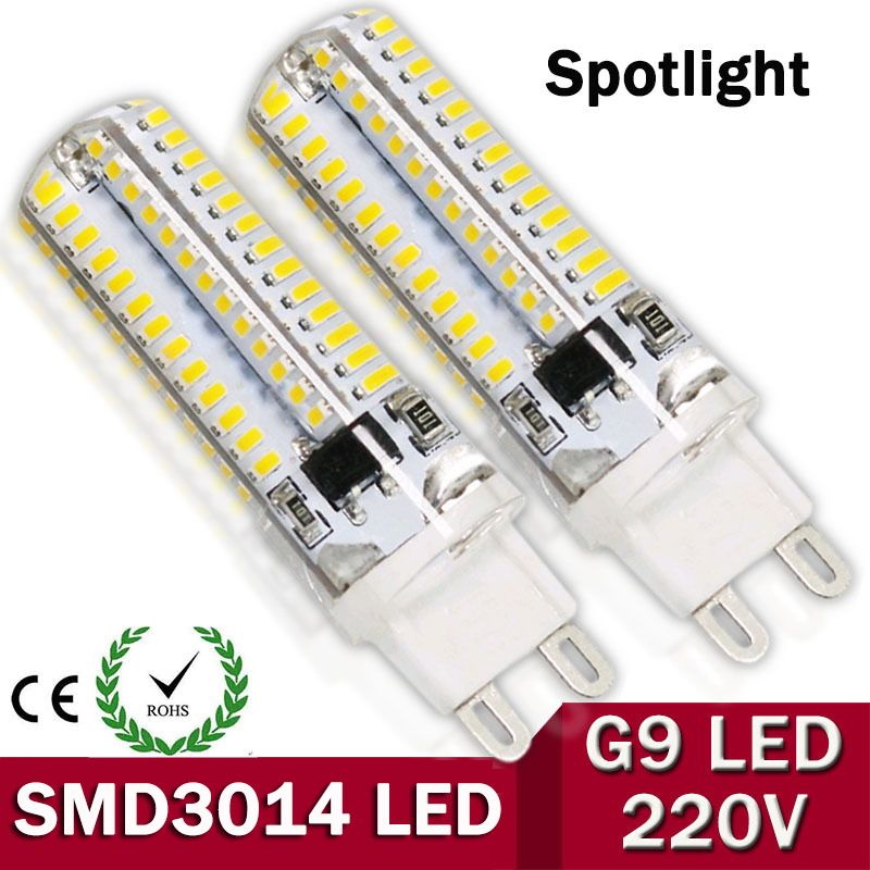 1pcs/lot G9 led Spotlight AC220V LED Corn light G9 LED Bulb lamp Light 104 / 64 LEDs SMD3014 car bulb Super bright
