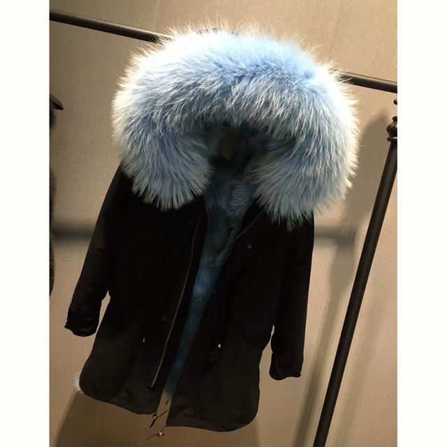 Hot Genuine Canada Wolf Fur Women Overcoat My Love from the Star Real Wolf Fur Hooded Outerwear Natural Fur Lady Clothing SML