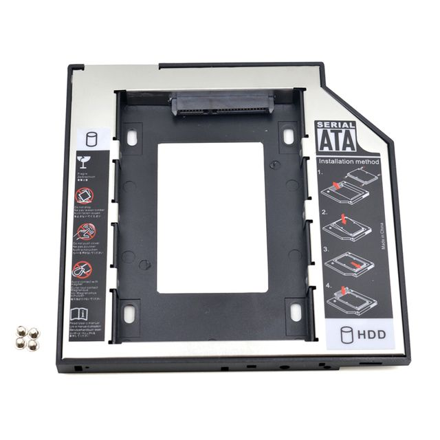 "Universal SATA to SATA 2nd HDD Caddy 9.5mm for 2.5"" SSD Case Hard Disk Drive Enclosure for Laptop ODD Optibay Optical Bay"