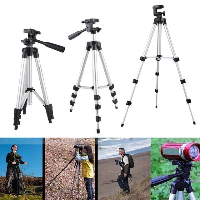 Alloet Universal Video Digital Camera Tripod Mount Camcorder Tripod Stand For Nikon Canon Panas  Section 3 Adjustable Legs