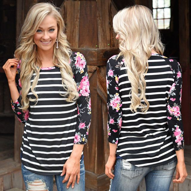 Fashion Women Clothes Tops Flower Long Sleeve Shirts Casual Blouse Loose Cotton Tops Women Lady Clothing Big Plus Size