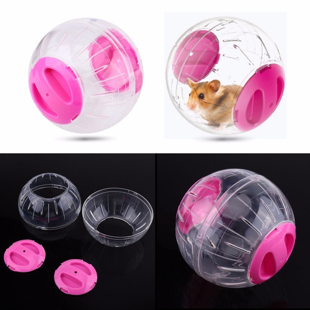 Funny Pet Rodent Mice Jogging Hamster Rat Play Plastic Toy Exercise Ball pet products Orange/Blue/P Hamster Sport 2018