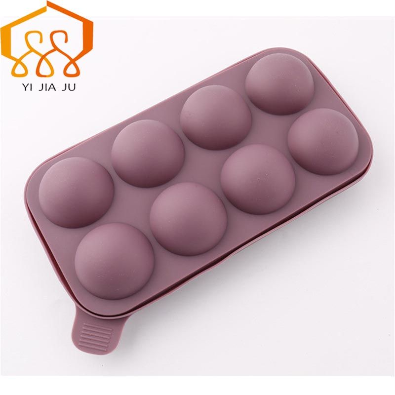 Lollipop Pop 8 Holes Mould Silicone Round Shape Chocolate Mold , Ice, Cupcake,Lollipop Sugar Tool Baking Tool Tray
