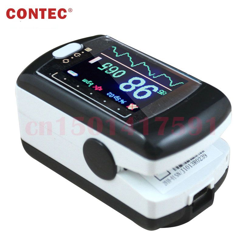 CMS50E Free Ship 16 CMS50E Cost Price Color OLED Display Black Fingertip Pulse Oximeter, Blood Oxygen Monitor