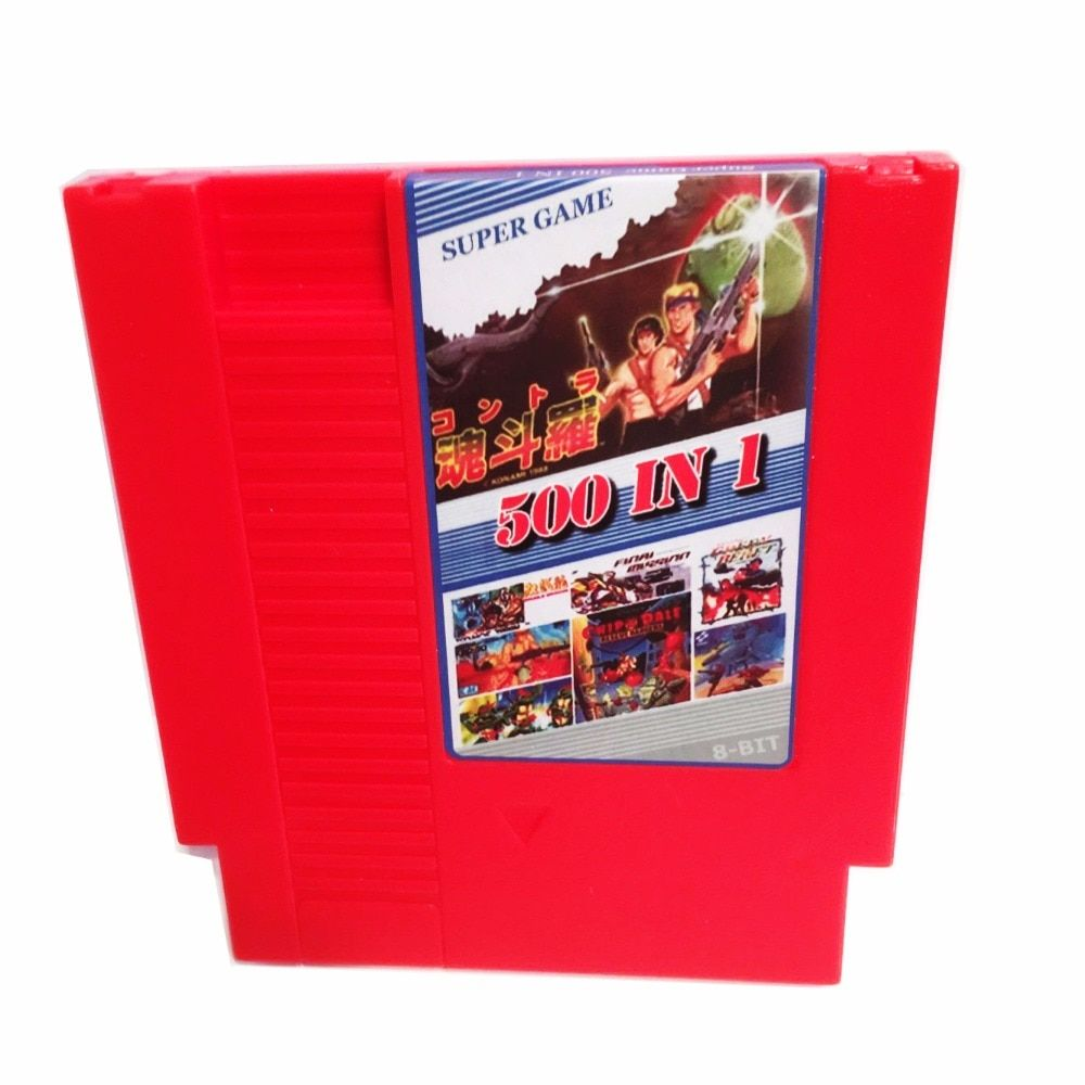 2016 New Arrival 500 in 1 Games collection 8 Bit 72 Pins Game Card