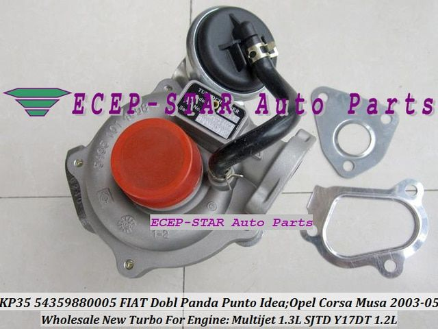 Free Ship KP35 54359880005 54359700005 Turbo Turbocharger For FIAT Dobl Panda Punto Lancia Musa For OPEL Corsa Z13DT Y17DT  1.2L