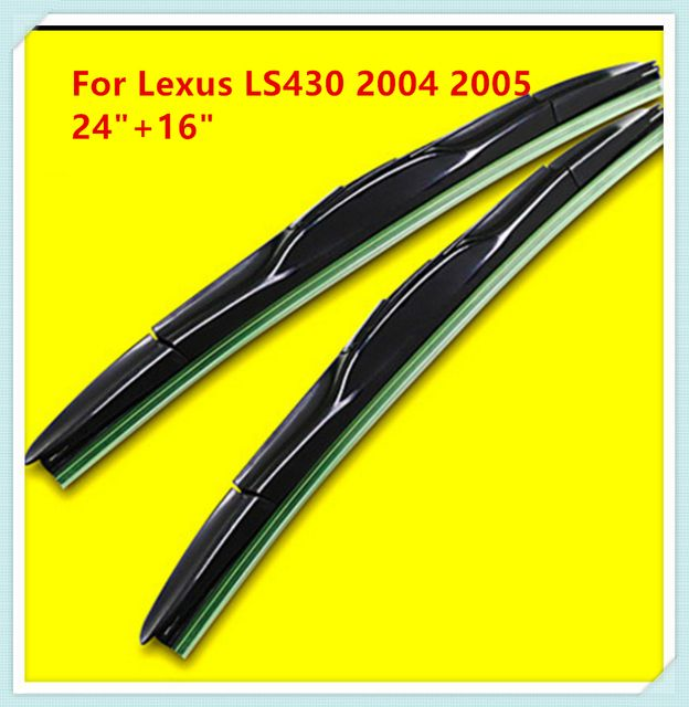 "3 Section Rubber windshield wiper Blade For Lexus LS430 2004 2005 24""+16"""