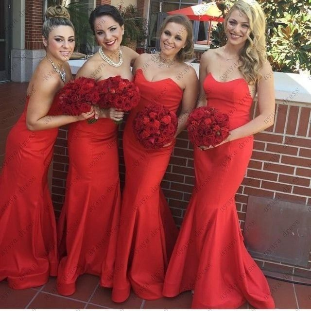 wejanedress red long bridesmaid dress 2017 abito lungo cerimonia donna hu da beauty robe demoiselle d'honneur