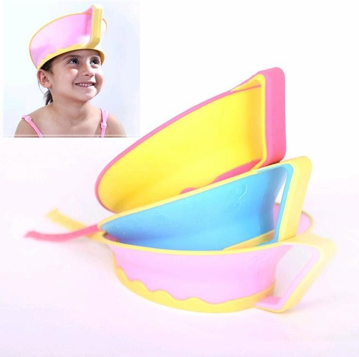 Children shower cap babys bathing cap kids shampoo bath baby shower cap hat wash hair shield