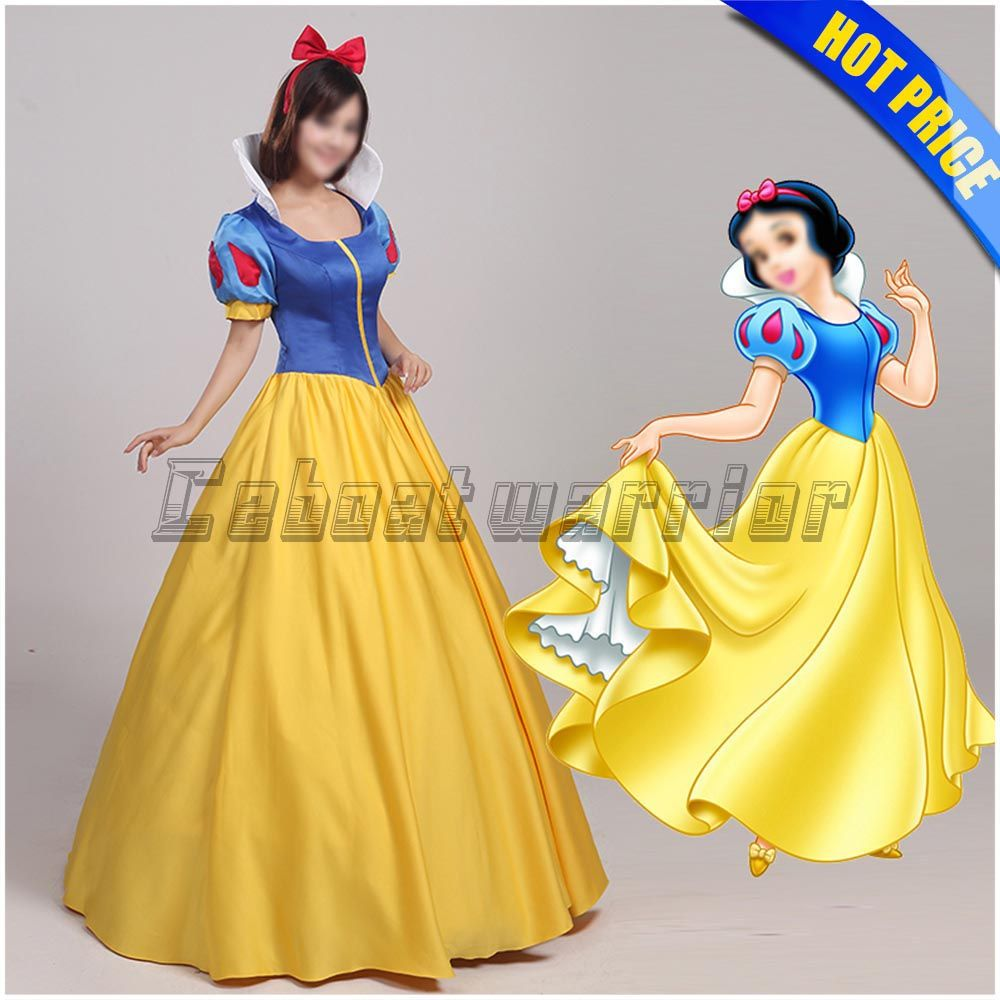 Adult Snow White Costume Women Cosplay Halloween Dress Female Fancy Dress Party Outfit