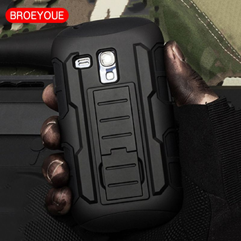 BROEYOUE Case For Samsung Galaxy S3 Mini Case Impact Holster Hard Case For Samsung Galaxy S3 Mini i8190 Cell Phone Case Cover