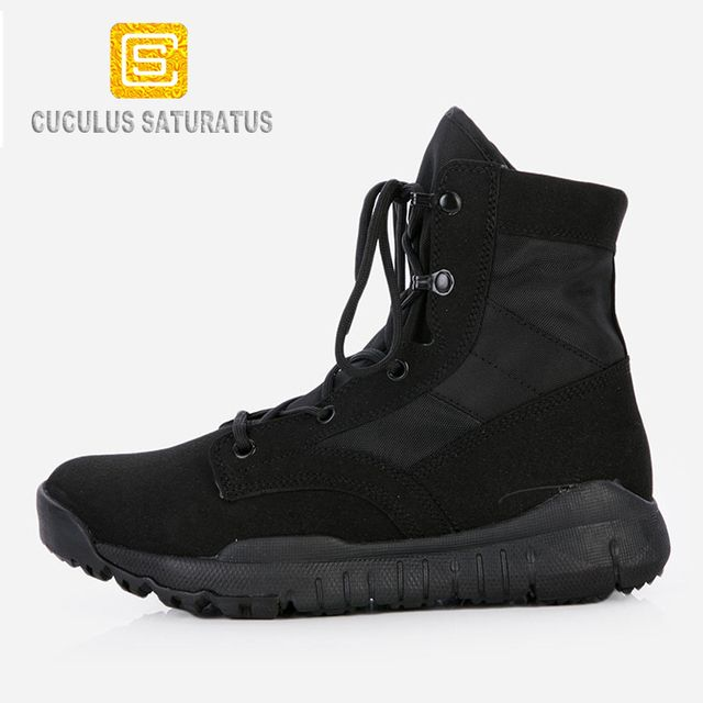 Cuculus Men's Jungle Boots Dessert Tactical Combat Boots Outdoor Hiking Shoes Army Military Boots EUR size 38-48 CQBZB