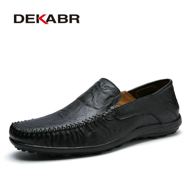 Big Size 38-47 Fashion Men Flats Comfortable Cow Split Leather Men Loafers Breathable Casual Driving Brand Soft Men Moccasins